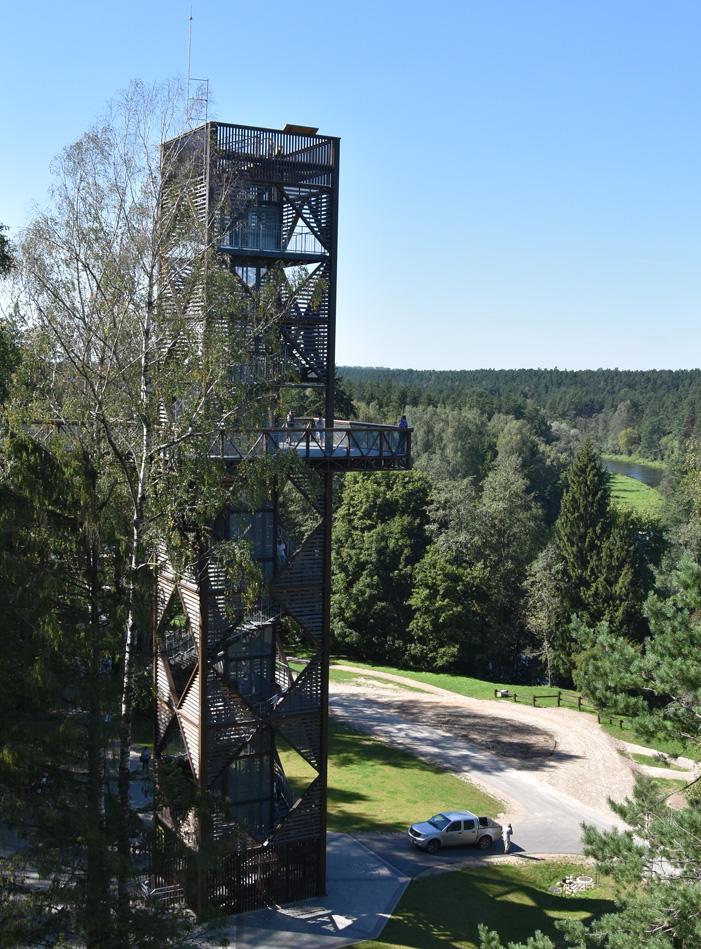 Treetop walking path in Lithuania