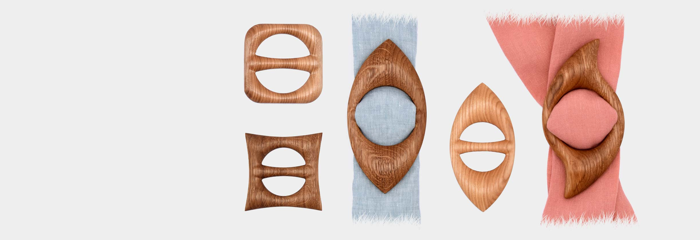 scarf rings wooden