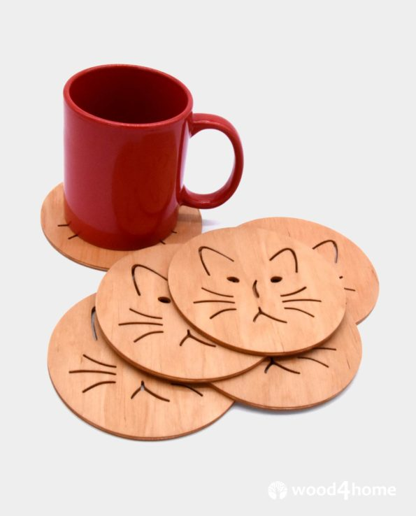 cat coasters gift