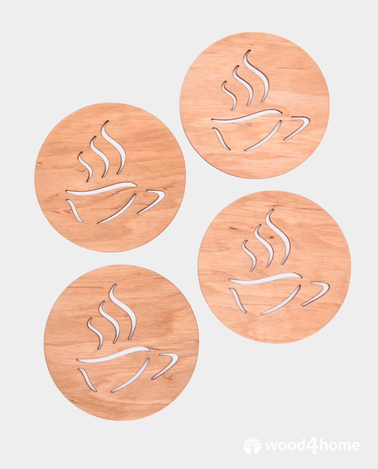 Cup Coasters Coffee Lover Wood4home Wooden Furnishings