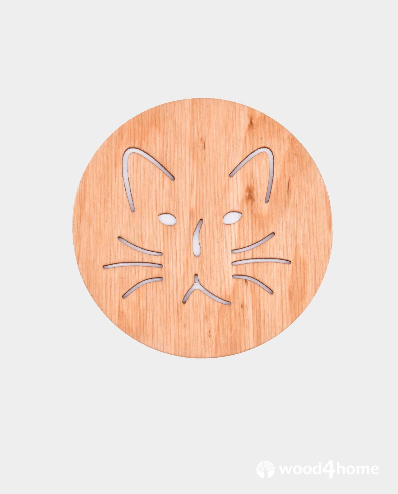 Wooden Coaster Cat : Coasters