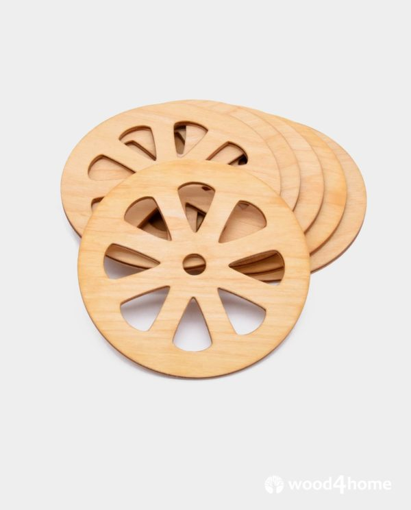 Cup coasters Grapefruit wooden ornaments