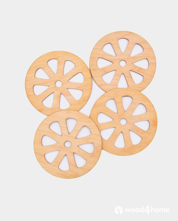 coasters wooden grapefruit ornaments