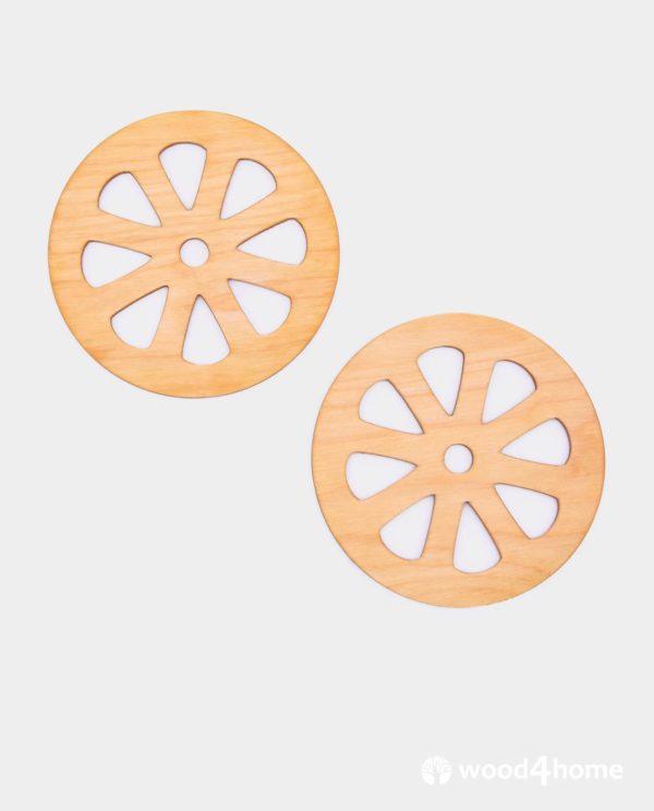 coasters wooden grapefruit ornaments