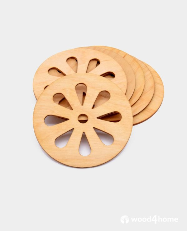 cup coasters wooden lemon ornament