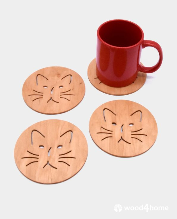 drink coasters cat