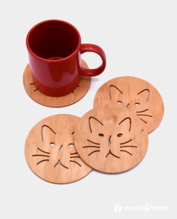 drink coasters cat