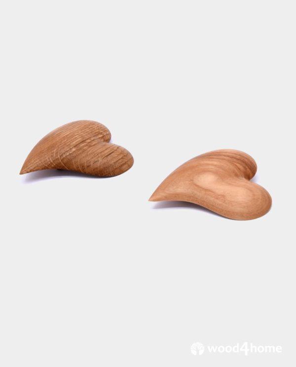 fashion brooches heart wood