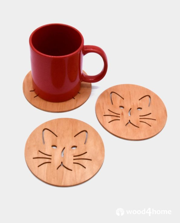 gift for cat lovers drink coasters