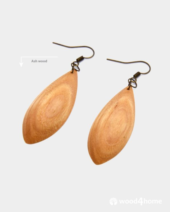 handmade wooden earrings online gifts for woman jewelry wood ash