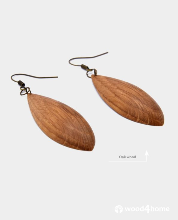 handmade wooden earrings online gifts for woman jewelry wood oak