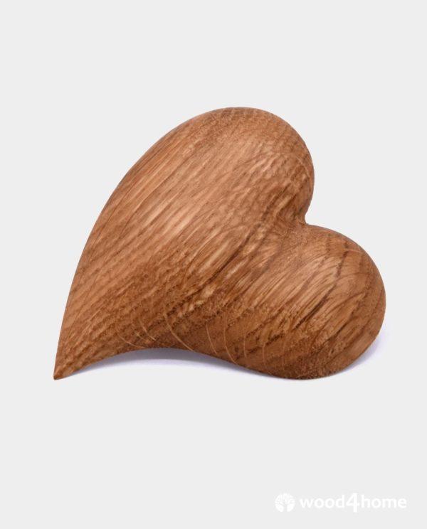 heart brooch wooden