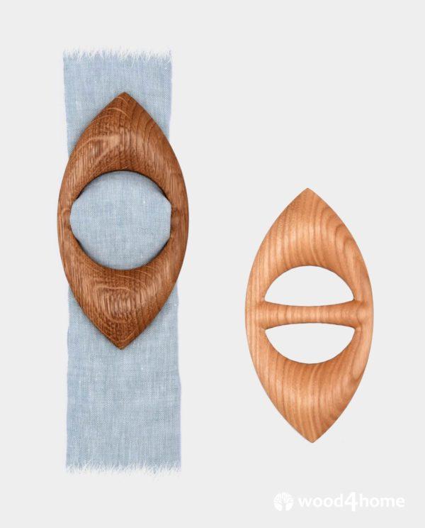 scarf brooch ring wooden
