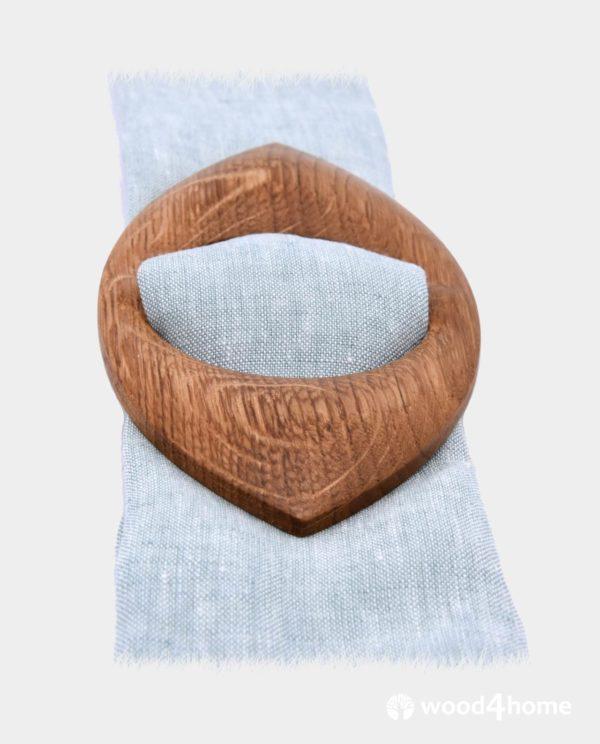 scarf brooch ring wooden oak