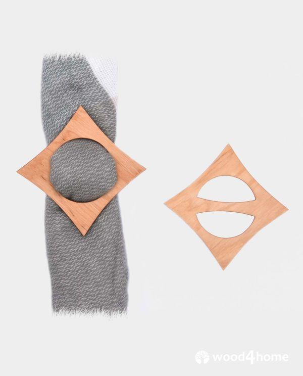 scarf ring clip wooden