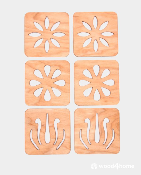 set coaster flowers