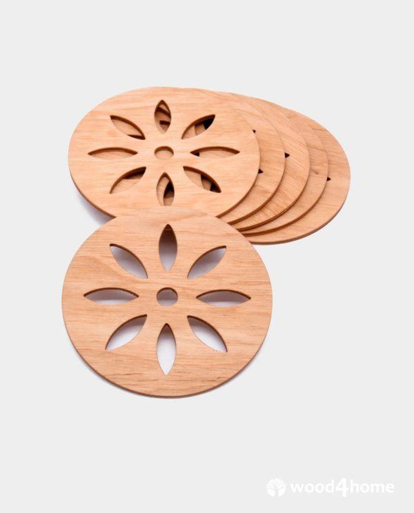 Wooden Coasters Flower