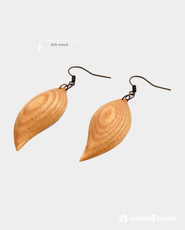 wooden earrings online gifts handamde ash wood jewelry