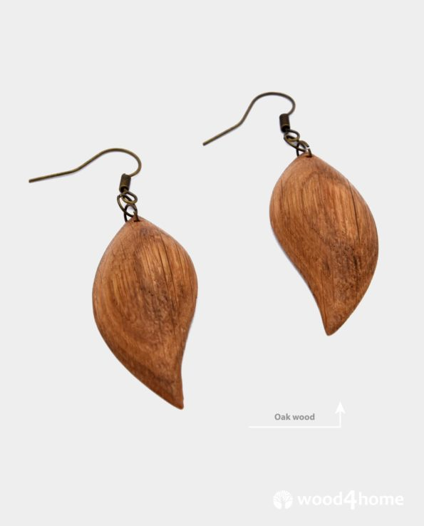 wooden earrings online gifts handamde oak wood jewelry