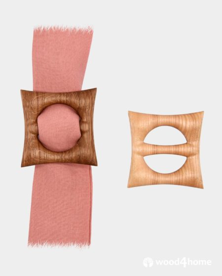 wooden scarf ring