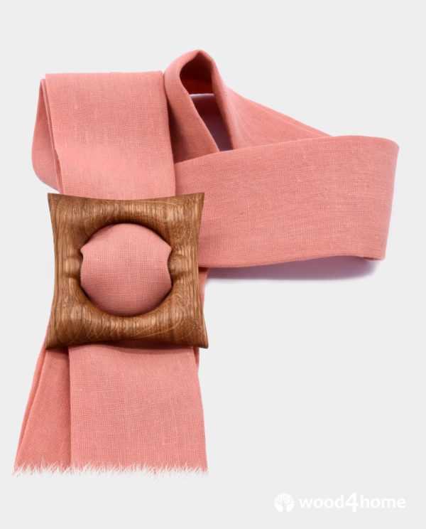 wooden scarf ring buckle clip